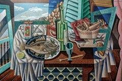 Mediterranean  original landscape painting Contemporary Art 21st Century