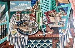 Mediterranean  original Still Life painting Contemporary Art 21st Century