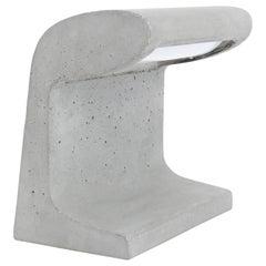 Borne Bétone Petite Cast Concrete Table Lamp by Le Corbusier With LED Bulb