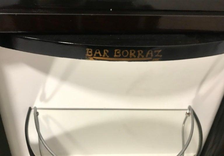 Borraz Dry Bar on Wheels, Ebonized Walnut, France For Sale 4