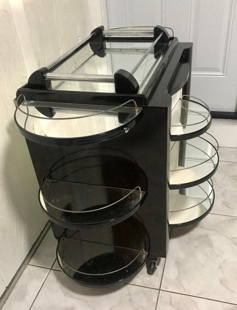 Borraz Dry Bar on Wheels, Ebonized Walnut, France For Sale 8