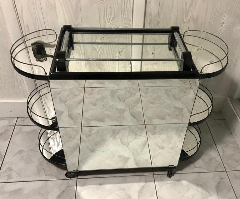 Borraz Dry Bar on Wheels, Ebonized Walnut, France For Sale 12