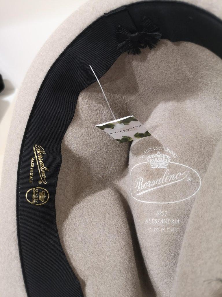 Gray Borsalino Grey Wool Hat For Sale