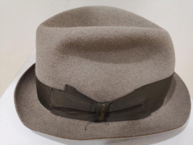 Women's or Men's Borsalino Grey Wool Hat For Sale