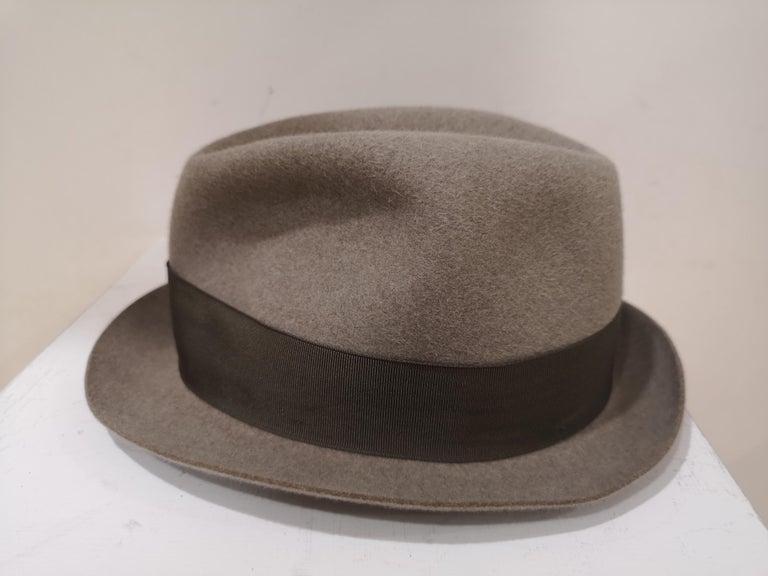 Borsalino Grey Wool Hat For Sale 1