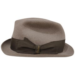 Borsalino Grey Wool Hat