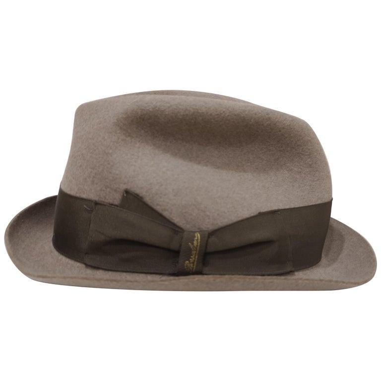 Borsalino Grey Wool Hat For Sale
