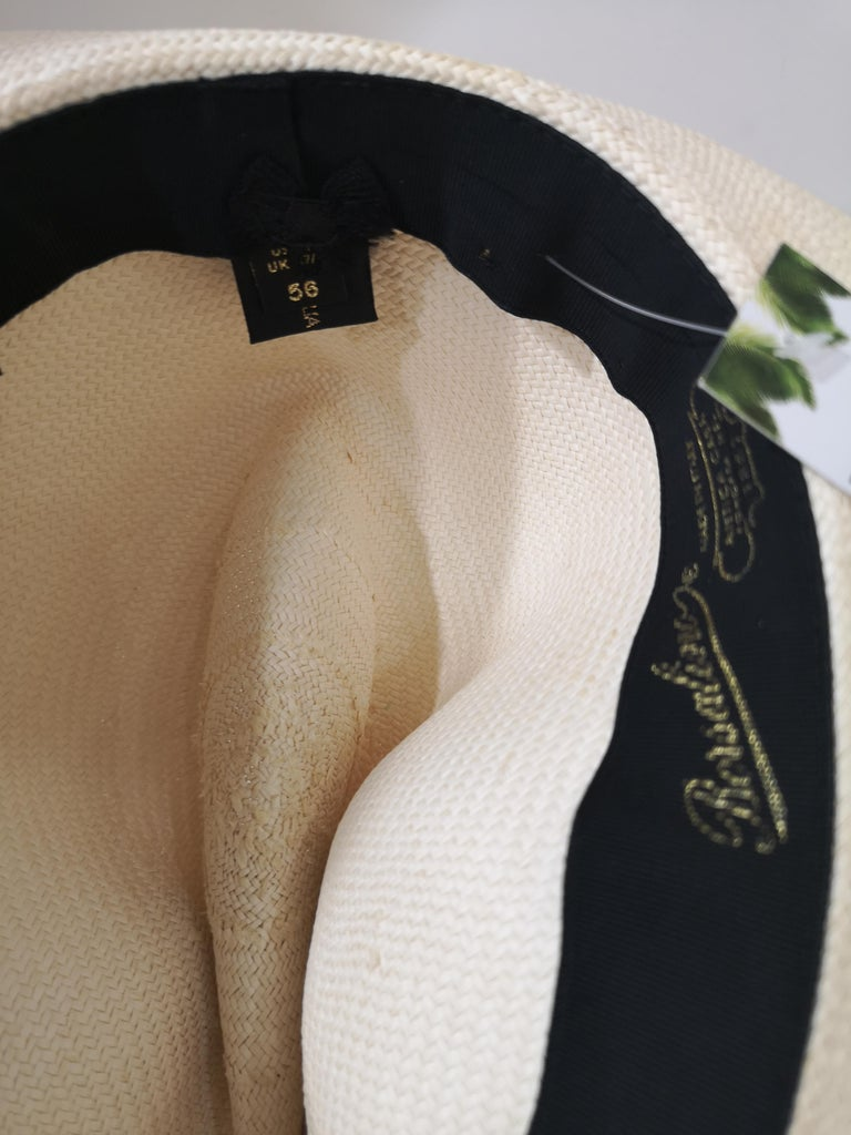 Borsalino Raffia Hat totally made in italy in size 56