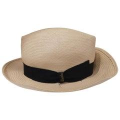 Borsalino Raffia Hat