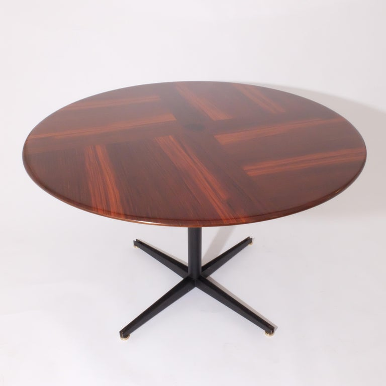 Italian Borsani Adjustable Height Rosewood Table by Tecno T41, Dining or Coffee Table For Sale