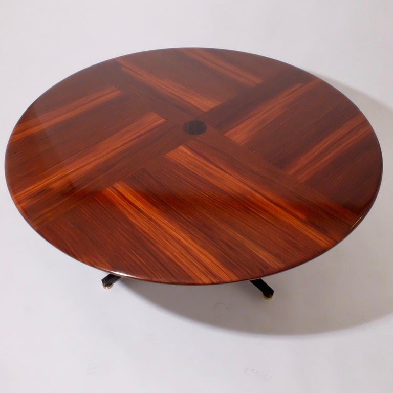 Borsani Adjustable Height Rosewood Table by Tecno T41, Dining or Coffee Table In Good Condition For Sale In London, GB