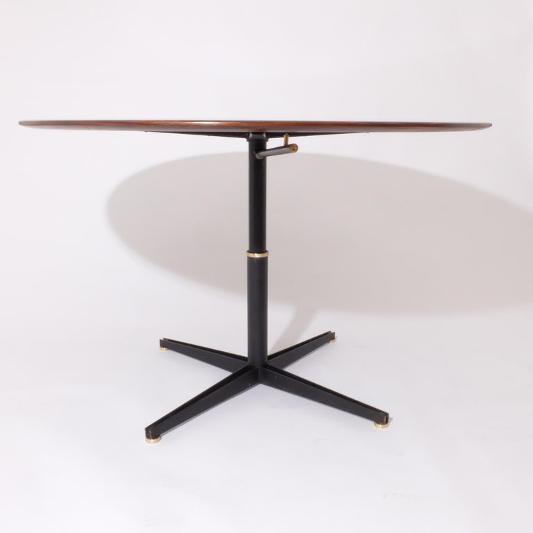 20th Century Borsani Adjustable Height Rosewood Table by Tecno T41, Dining or Coffee Table For Sale