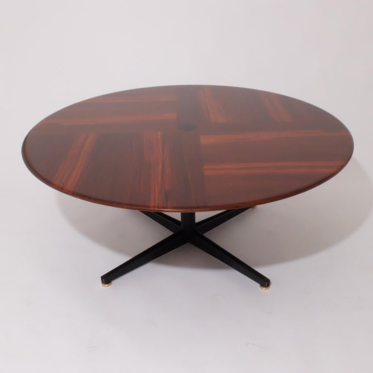 Wood Borsani Adjustable Height Rosewood Table by Tecno T41, Dining or Coffee Table For Sale