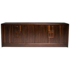 Borsani and Lucio Fontana Credenza with Sliding Doors