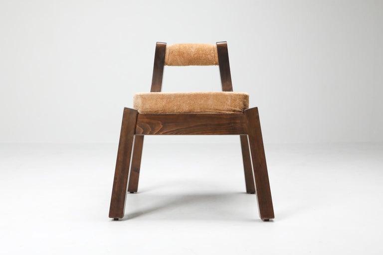 Mid-Century Modern Borsani Italian Walnut Dining Chair, Art deco, Brutalism 1950's For Sale