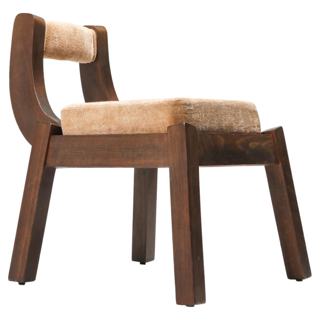 Borsani Italian Walnut Dining Chair, Art deco, Brutalism 1950's