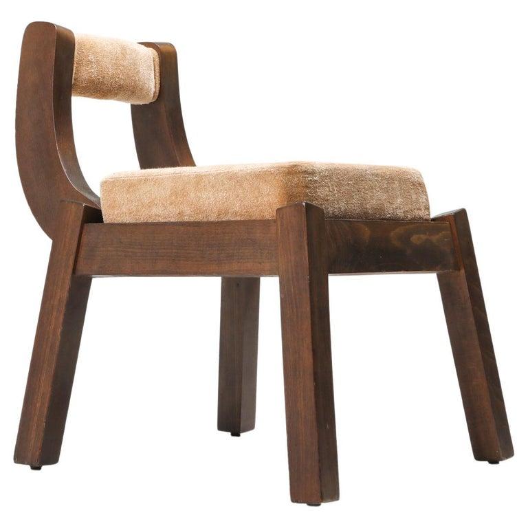 Borsani Italian Walnut Dining Chair, Art deco, Brutalism 1950's For Sale