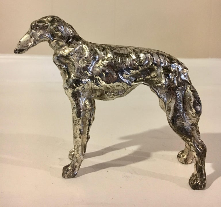 20th Century Borzoi Afghan Dog Sculpture Paper Weight For Sale