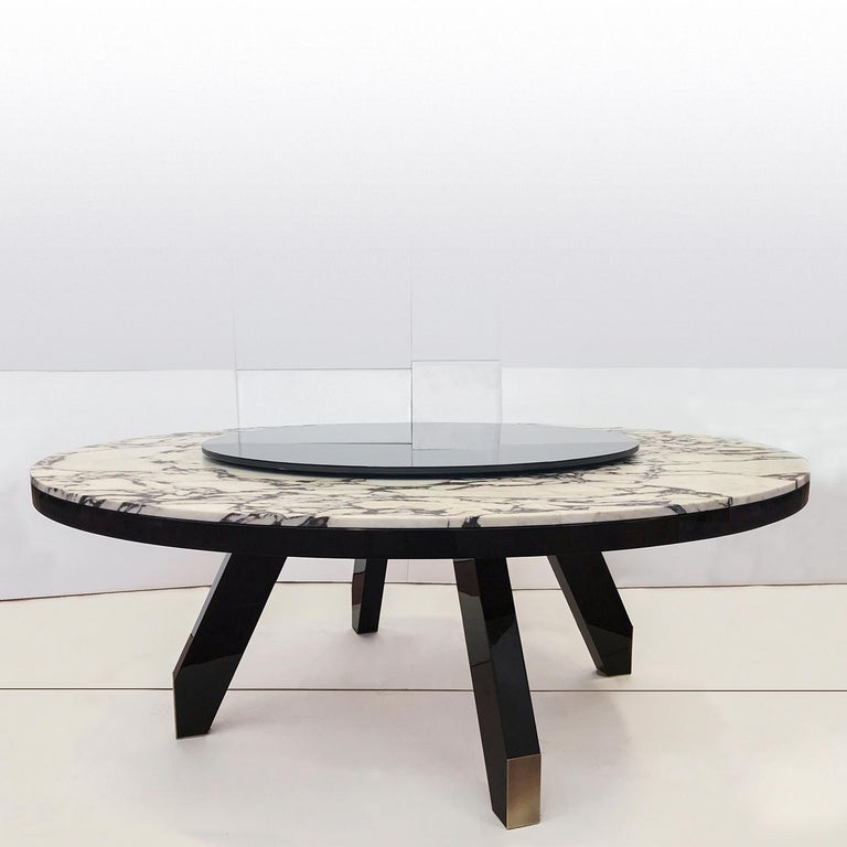 Modern Boscolo Table with Lazy Susan by Bosco Fair For Sale