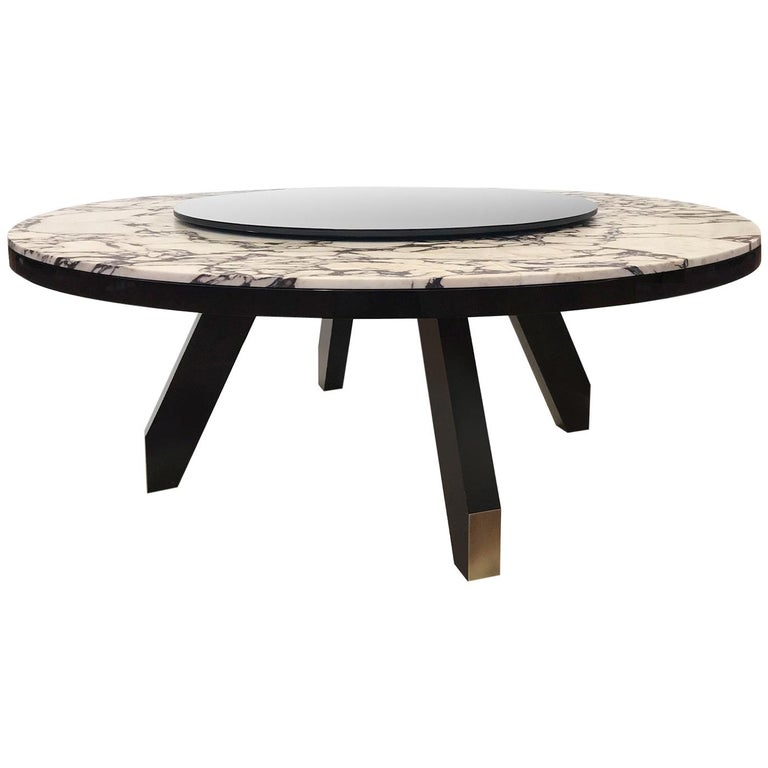 Boscolo Table with Lazy Susan by Bosco Fair For Sale