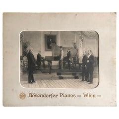 Bosendorfer Grand Piano Poster Advertisement, Lithography Karl Karger, 1892