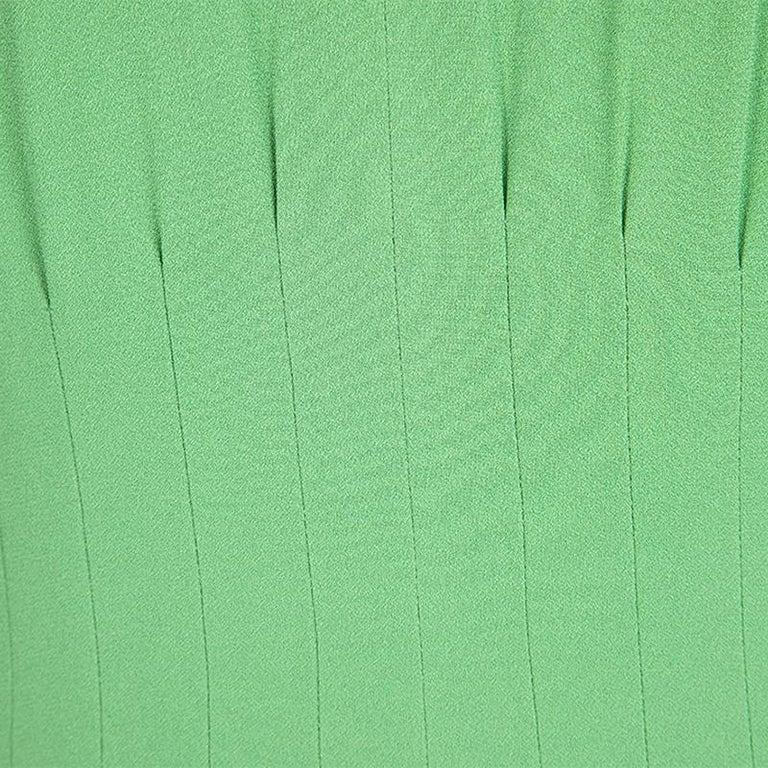 Women's Boss By Hugo Boss Green Sleeveless V-Neck Dallisia Maxi Dress L