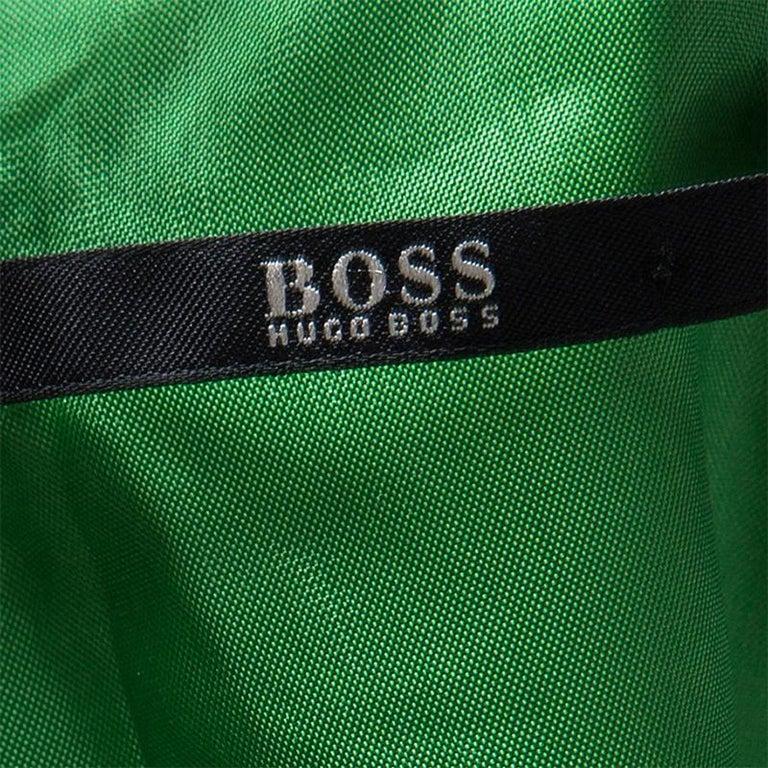 Boss By Hugo Boss Green Sleeveless V-Neck Dallisia Maxi Dress L 1