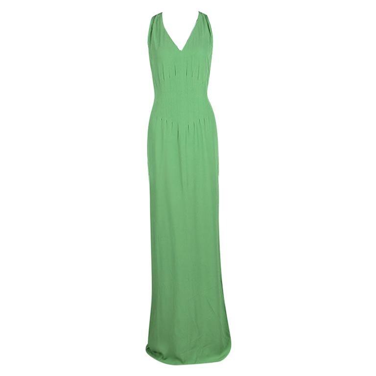 Boss By Hugo Boss Green Sleeveless V-Neck Dallisia Maxi Dress L