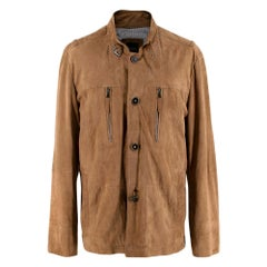 Boss Hugo Boss Suede Tan Mens Jacket - Size L