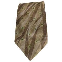 Boss light green multicoloured silk tie