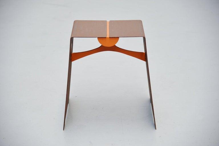 Mid-Century Modern Bossche School Stool Holland 1970 Dom Hans van der Laan Style For Sale