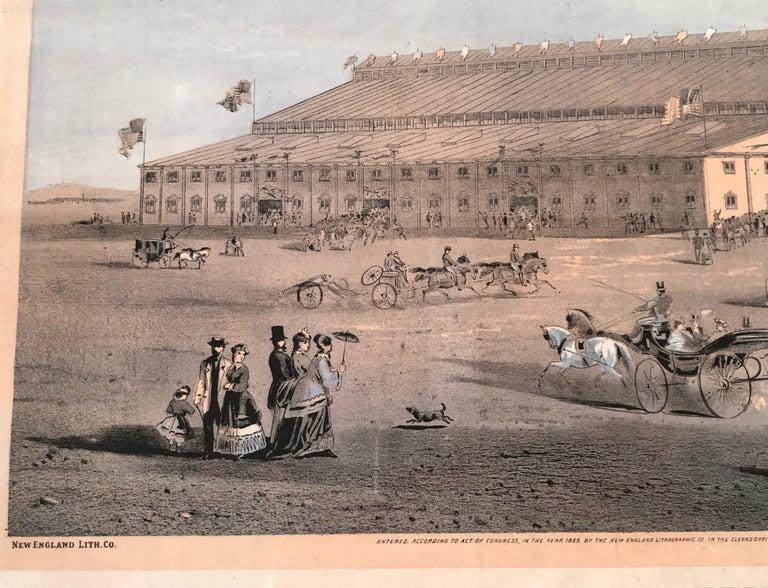 Boston Coliseum National Peace Jubilee Lithograph, circa 1869 For Sale 4