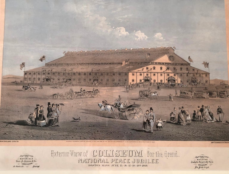 Boston Coliseum National Peace Jubilee Lithograph, circa 1869 For Sale 5