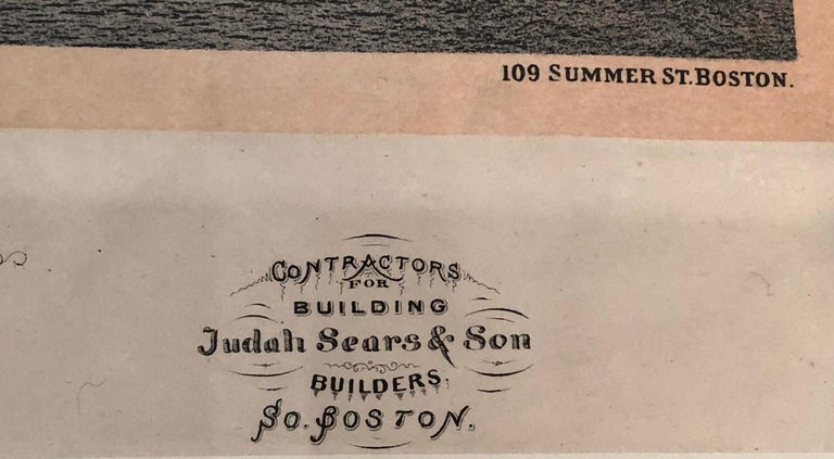 Boston Coliseum National Peace Jubilee Lithograph, circa 1869 In Good Condition For Sale In Essex, MA
