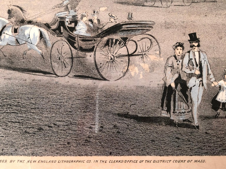 Mid-19th Century Boston Coliseum National Peace Jubilee Lithograph, circa 1869 For Sale