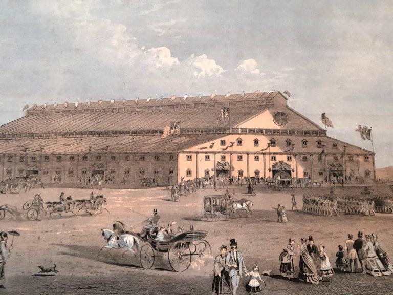 Boston Coliseum National Peace Jubilee Lithograph, circa 1869 For Sale 1