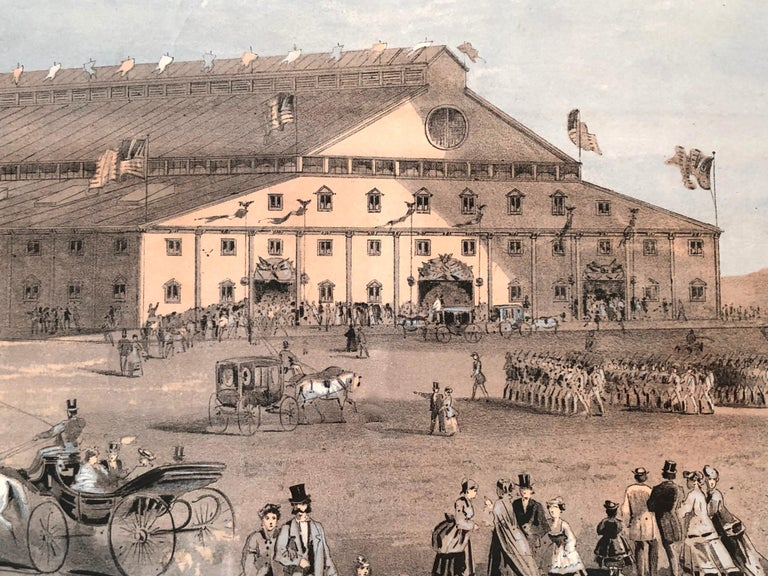 Boston Coliseum National Peace Jubilee Lithograph, circa 1869 For Sale 2