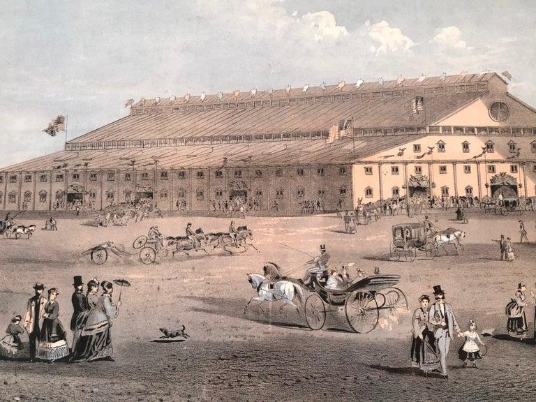 Boston Coliseum National Peace Jubilee Lithograph, circa 1869 For Sale 3