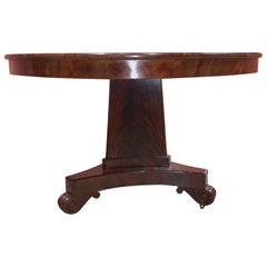Boston Empire or Classical Mahogany Center Table, circa 1825