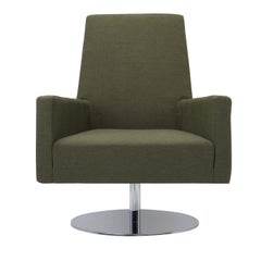 Boston Green Swivel Armchair with Tall Back