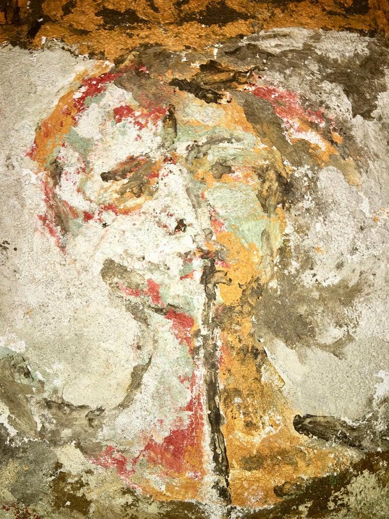 Boston Modern Fresco of Angel on Concrete by Jean Wechsler Knapp For Sale 3