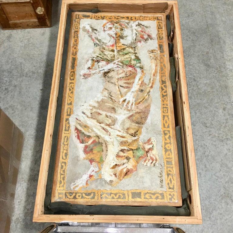 American Boston Modern Fresco of Angel on Concrete by Jean Wechsler Knapp For Sale