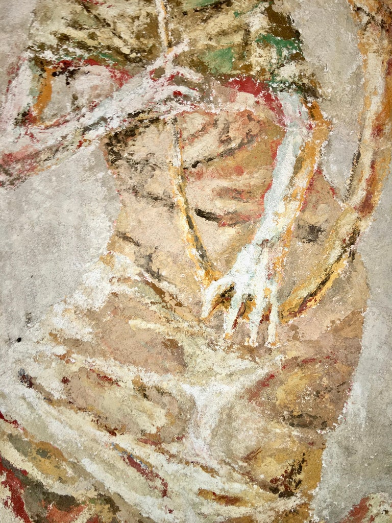 Boston Modern Fresco of Angel on Concrete by Jean Wechsler Knapp For Sale 1