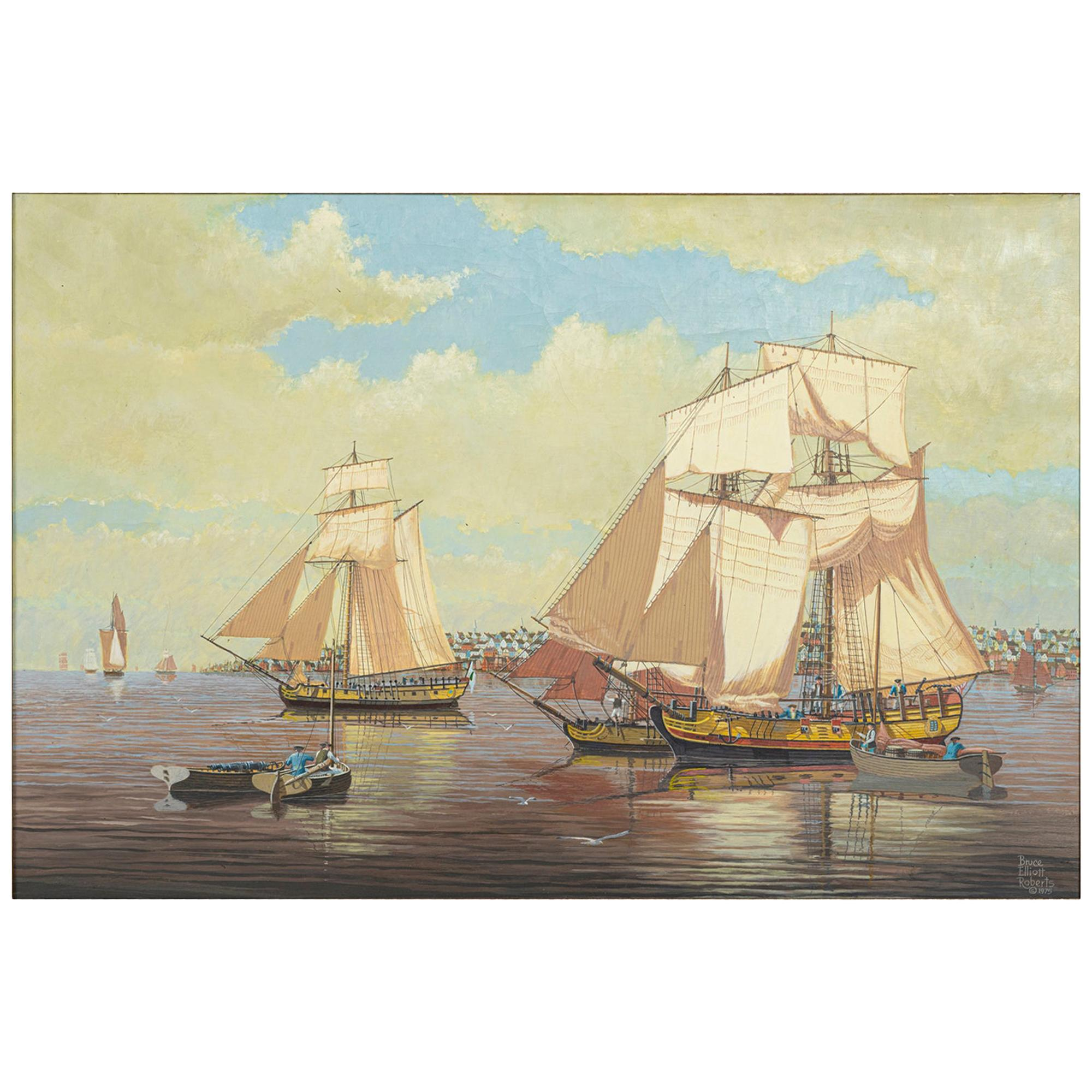 """""""Boston, Stronghold of the American Revolution"""" Signed Bruce Elliot Roberts"""