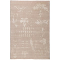 Botanical Anatomy Nude 10x8 Rug in Wool and Silk by Christopher Kane