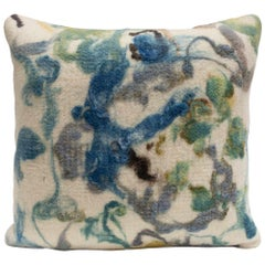 Botanical Felted Wool Square Pillow by JG Switzer