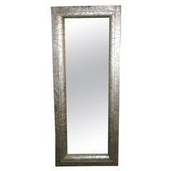 Botanical inspired  sliver -leafed full size mirror