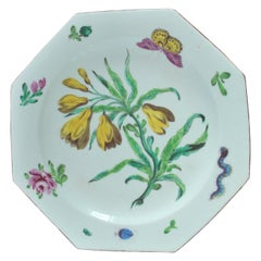Botanical Plate, Bow Porcelain Factory, circa 1755