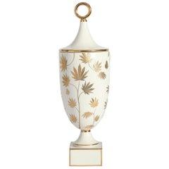 Botanist 'Ganja' Gilded Porcelain Urn