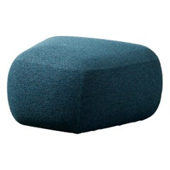 Botera Small Pouf in Foam with Ultramarine Blue Upholstery by E-GGS